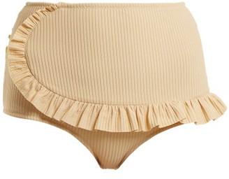 Made by Dawn Traveler Ruffle Trimmed Bikini Briefs - Womens - Cream
