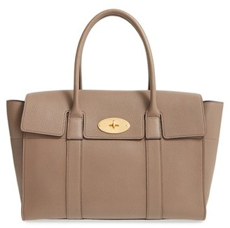 Mulberry 'New Bayswater Classic' Leather Satchel - Grey $1,550 thestylecure.com