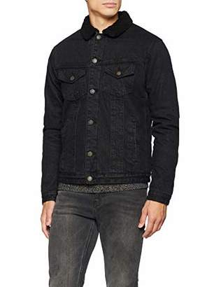 Jack and Jones Men's Jjiedward Jjjacket Cr 078 STS Jacket, Black Denim, XX-Large