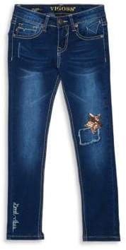 Vigoss Girl's Star at My Knee Jeans