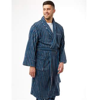 69ca3050dc Ben Sherman Bayo Stripe Robe Blue Navy