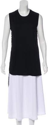 Giambattista Valli Silk-Trimmed Sleeveless Top