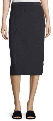 Eileen Fisher MISSY SLEEK TENCEL RIB 27 IN $258 thestylecure.com