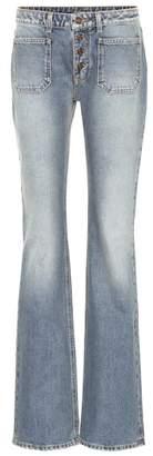 Saint Laurent High-rise bootcut jeans