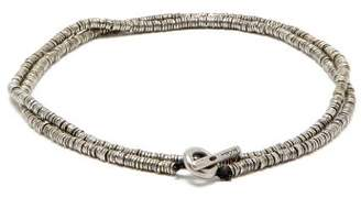 M. Cohen Disc Silver Sterling Bracelet - Mens - Silver