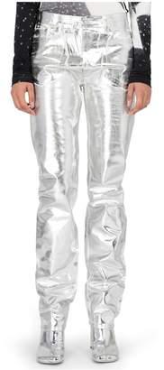 Maison Margiela Silver Coated Denim Pants