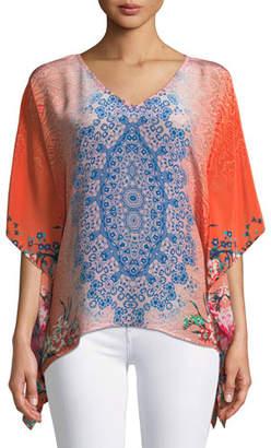 Tolani Briyana Handkerchief-Hem Tunic