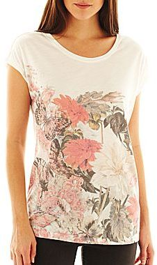 i jeans by Buffalo Floral Screen Tee