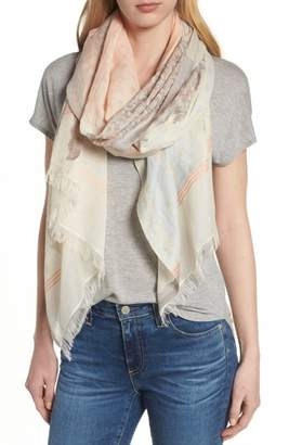 Echo Patchwork Print Cotton Scarf