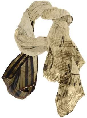 ALAZA Vintage Music Note Sheet Chiffon Silk Long Scarf Shawl Wrap