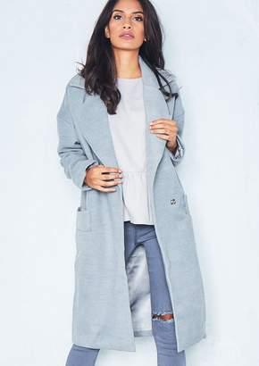 Missy Empire Missyempire Priah Grey Longline Coat