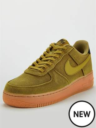 Nike Force 1 '07 LV8 Style Trainers - Green/Gum