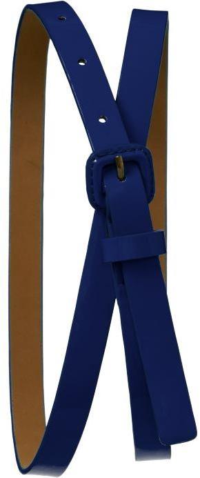 Women's Skinny Faux-Patent Belts