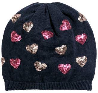 H&M Fine-knit hat with sequins - Blue