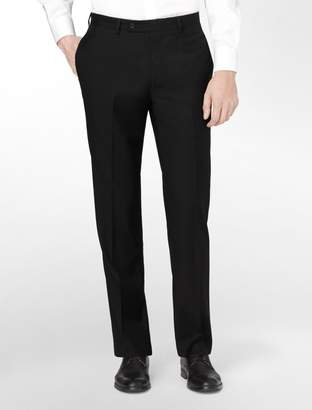 Calvin Klein body slim fit black wool suit pants