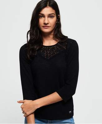 Superdry Whitney Embroidered Long Sleeve Top