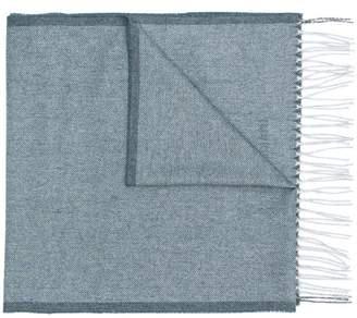 Corneliani fringed scarf