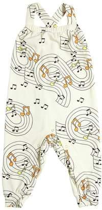 Mini Rodini Music Print Organic Cotton Jersey Romper