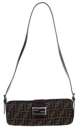 Fendi Leather-Trimmed Zucca Crossbody Bag
