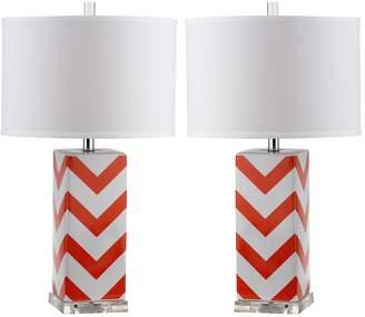 Safavieh 2-piece Chevron Stripe Table Lamp Set