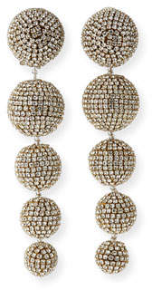 Sachin + Babi Maura Crystal Ball-Drop Clip Earrings