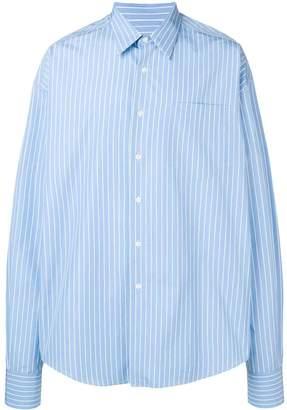 Ami Alexandre Mattiussi sky blue striped shirt