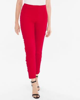 Chico's Side-Ruffle Slim Ankle Pants