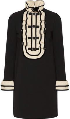 Gucci - Embellished Ruffled Stretch-cady Mini Dress - Black $2,200 thestylecure.com