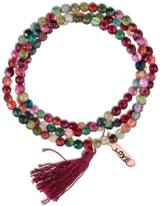 Footnotes Footnotes Womens Pink Silver Over Brass Beaded Bracelet Yp5B0f
