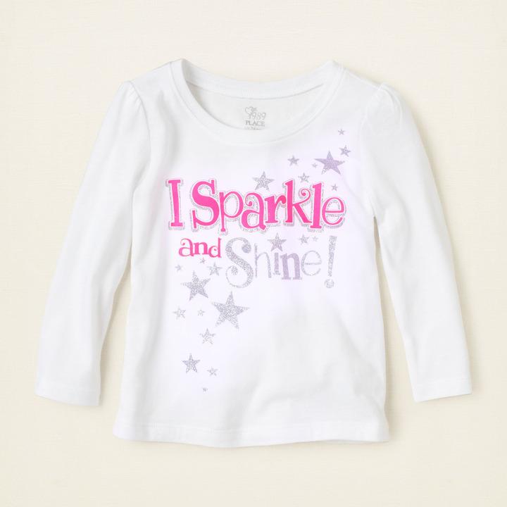 Children's Place Sparkle shine graphic tee