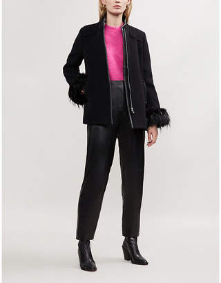 Claudie Pierlot Green Bis wool-blend coat