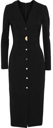 Cushnie et Ochs Paola Button-Embellished Stretch-Crepe Dress