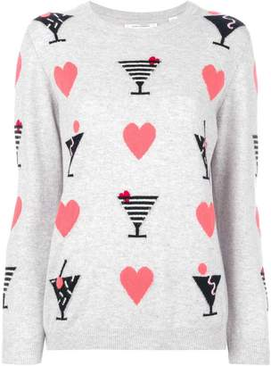 Parker Chinti & cashmere Cocktail Heart sweater