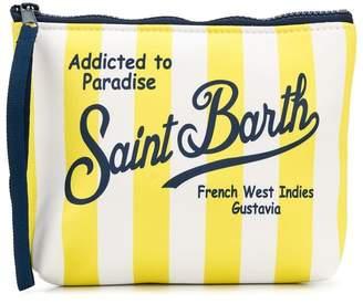 MC2 Saint Barth Kids striped logo pouch