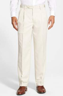 Berle Self Sizer Waist Pleated Trousers