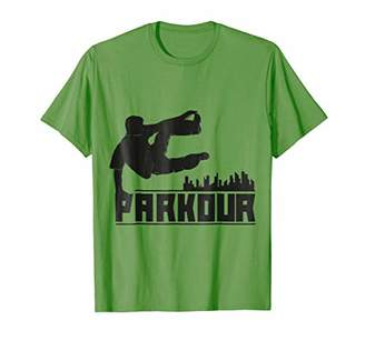 Urban City Parkour Silhouette T-Shirt