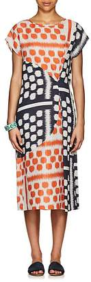 Zero Maria Cornejo Women's Geometric Linen Midi-Dress