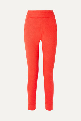 The Elder Statesman Cashmere Track Pants - Tomato red