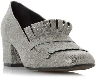 Dune LADIES ARGY - Fringe Detail Block Heel Court Shoe