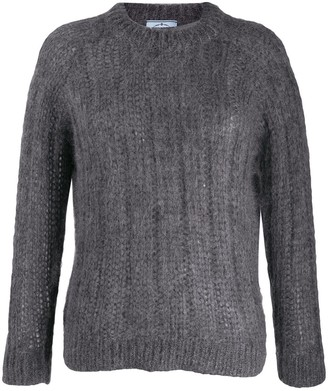 Prada crew neck chunky knitted jumper