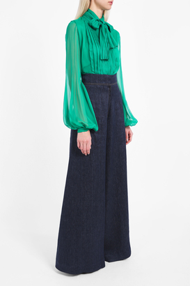 BONNIE YOUNG Front Pleated Blouse