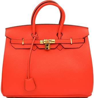 Amour Irene Designer Inspi Fashion Satchel Handbag With Padlock(+Gold)