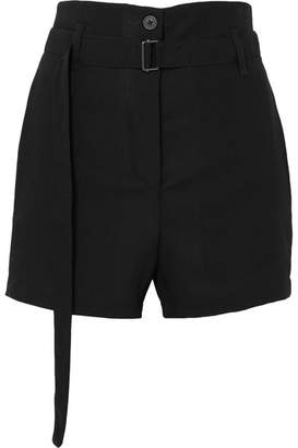 Ann Demeulemeester Belted Wool Shorts - Black