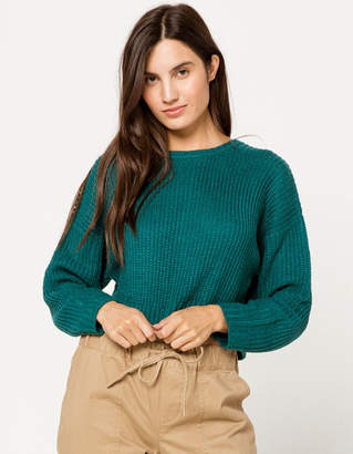 Full Tilt Crew Neck Crop Womens Sweater