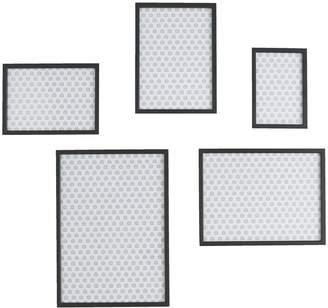 Aluminus Set of 5 black metal wall frames