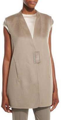 Lafayette 148 New York Kingsley Cashmere Vest, Cobblestone $1,148 thestylecure.com