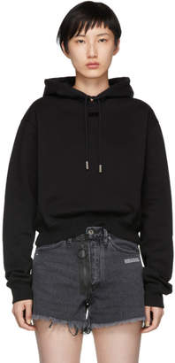 Off-White Black Arrow Cropped Hoodie