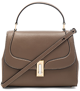 Marc Jacobs West End Stitch Top Handle II Bag in Brown.
