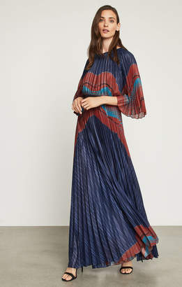 BCBGMAXAZRIA Aubrielle Sunburst Pleated Gown