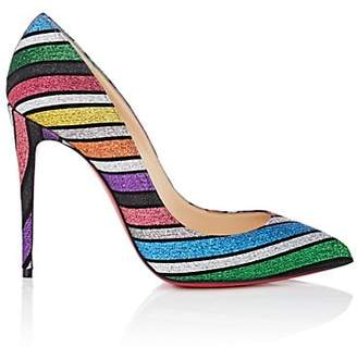 Christian Louboutin Women's Pigalle Follies Glitter-Striped Pumps